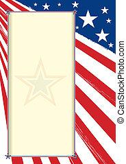 cartaz, americano, certificado