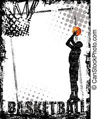 cartaz, basquetebol