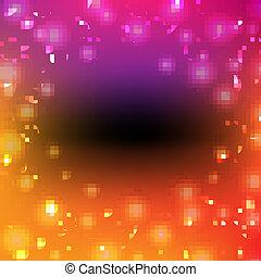 cartaz, bokeh, coloridos