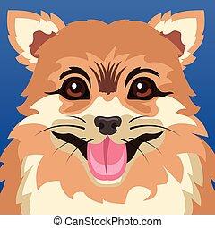 cartaz, cão, animal