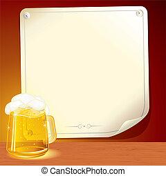 cartaz, cerveja