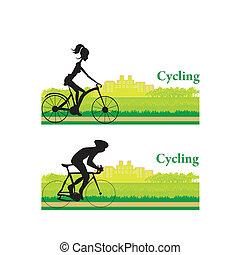 cartaz, ciclismo