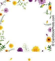 cartaz, com, flores