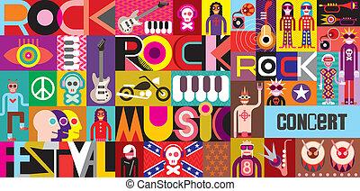 cartaz, concerto, rocha