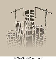 cartaz, construção