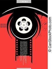 cartaz, desenho, cinema