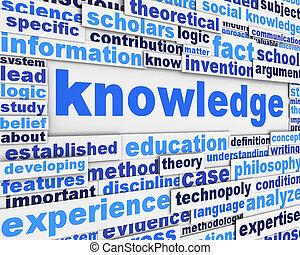 cartaz, desenho, conhecimento