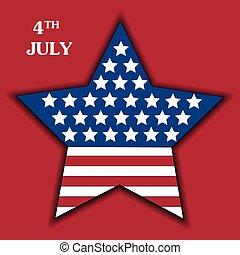 cartaz, dia, independência