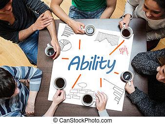 cartaz, escrito, dr, capacidade