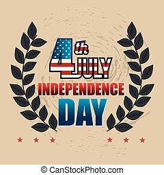 cartaz, eua, dia independência