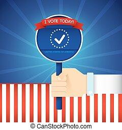 cartaz, eua, presidencial, eleição