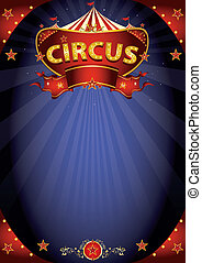 cartaz, fantástico, circo, noturna