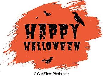 cartaz, fundo, borrão, transparente, feliz, dia das bruxas