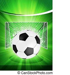 cartaz, futebol, eps, 8, futebol, ball.