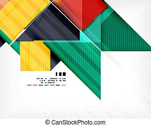 cartaz, geomã©´ricas, abstração, negócio