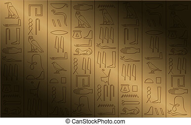 cartaz, hieroglifo