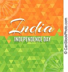 cartaz, indianas, dia, independência