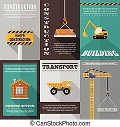 cartaz, jogo construção