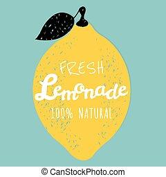 cartaz, limonada
