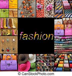 cartaz, moda, acessórios, fantasia