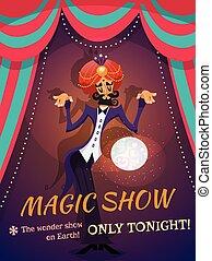 cartaz, mostra mágica