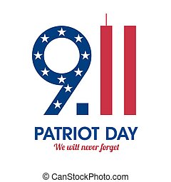 cartaz, patriota, dia