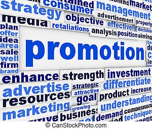cartaz, promoção, desenho