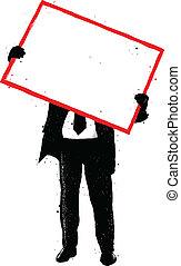cartaz, quadro, vermelho