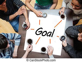 cartaz, sobre, brainstorming, wi, equipe
