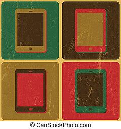 cartaz, telefone, vetorial, esperto, denominado, pop-art
