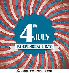 cartaz, vetorial, dia, ilustração, independência