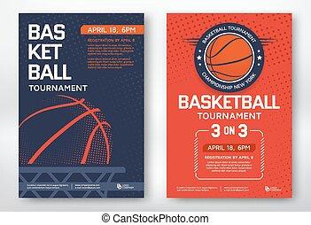 cartazes, basquetebol, torneio