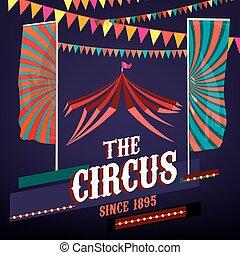 cartazes, circo, vindima