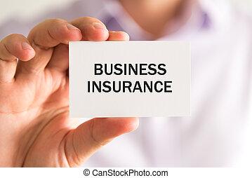 carte, à, texte, assurance commerciale