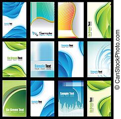 carte, élégant, résumé, collection, business