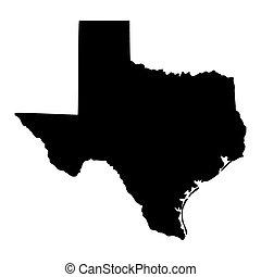 carte état, etats-unis, texas