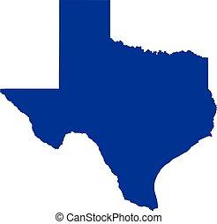 carte, état, texas