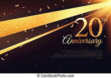 carte, 20ème, gabarit, célébration anniversaire