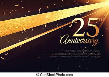 carte, 25e, anniversaire, gabarit, célébration