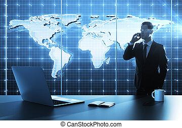 carte, affaires globales