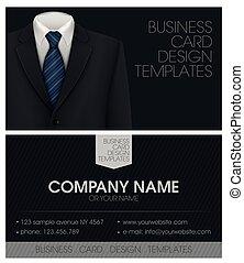carte affaires, smoking, arc, élégant, complet, cravate