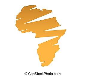 carte, afrique