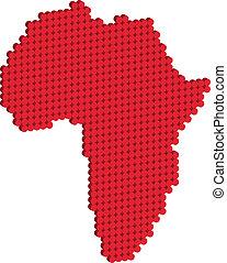 carte, afrique, doted