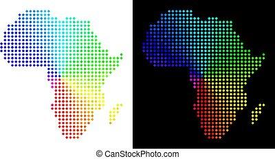 carte, afrique, spectre, pointillé