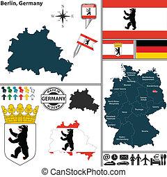 carte, allemagne, berlin