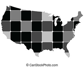 carte, américain