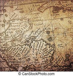 carte, ancien, fond