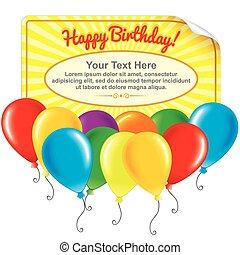 carte anniversaire, heureux