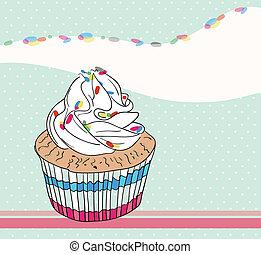 carte anniversaire, petit gâteau