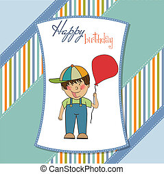 carte anniversaire, salutation